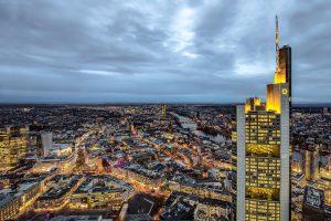 Frankfurts Innenstadt Luftaufnahme