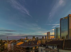 Over the Tops of Frankfurt Skyline And Living in FFM
